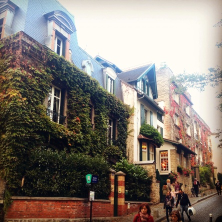 houses in Montmartre are lovely to look at