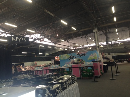 exhibitors showcase their products (before pic)