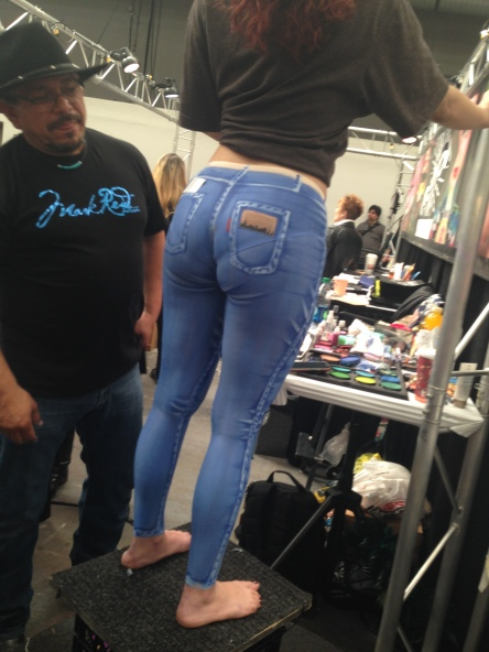 not just ordinary art - painted jeans!